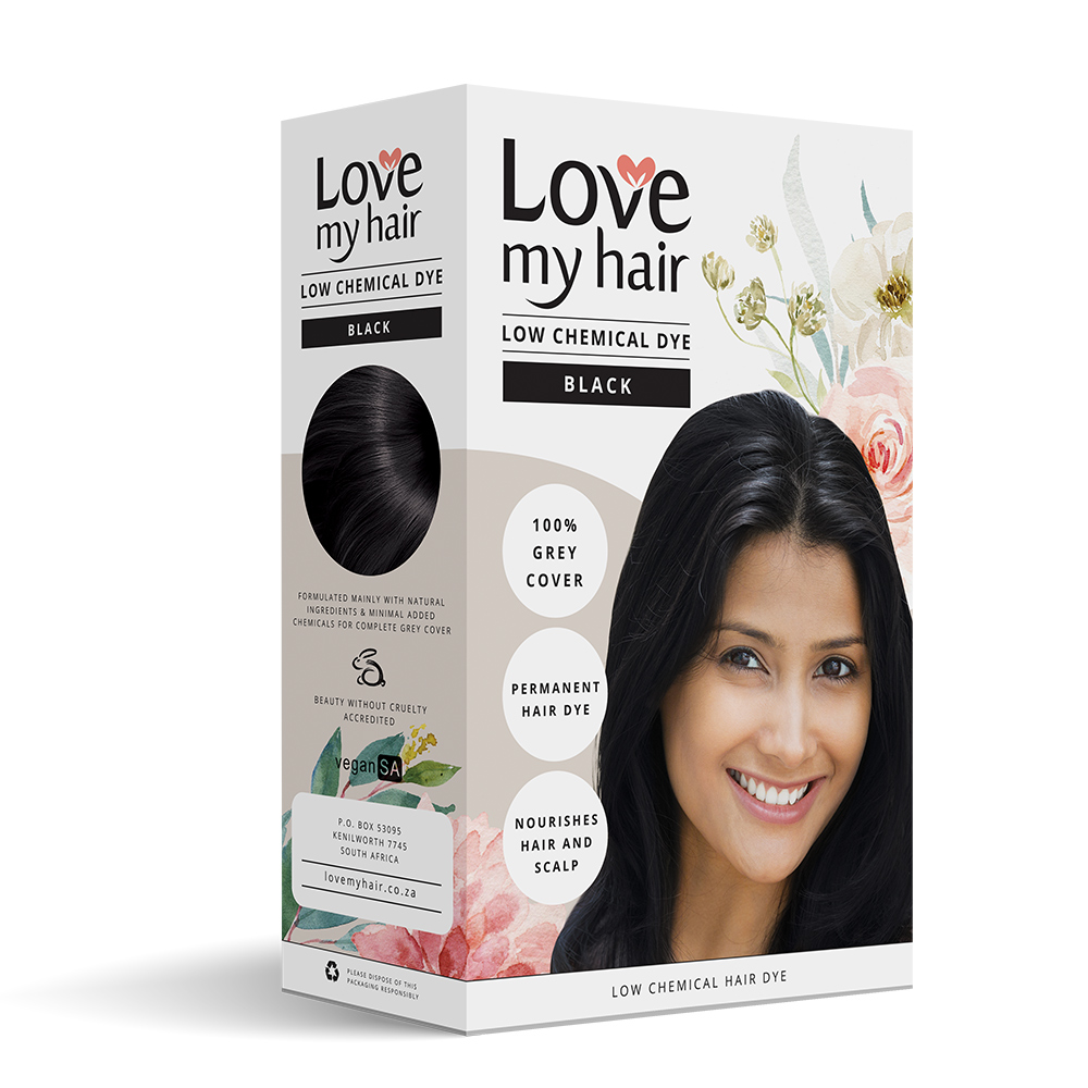 BLACK – Low Chemical hair dye - Love My Hair