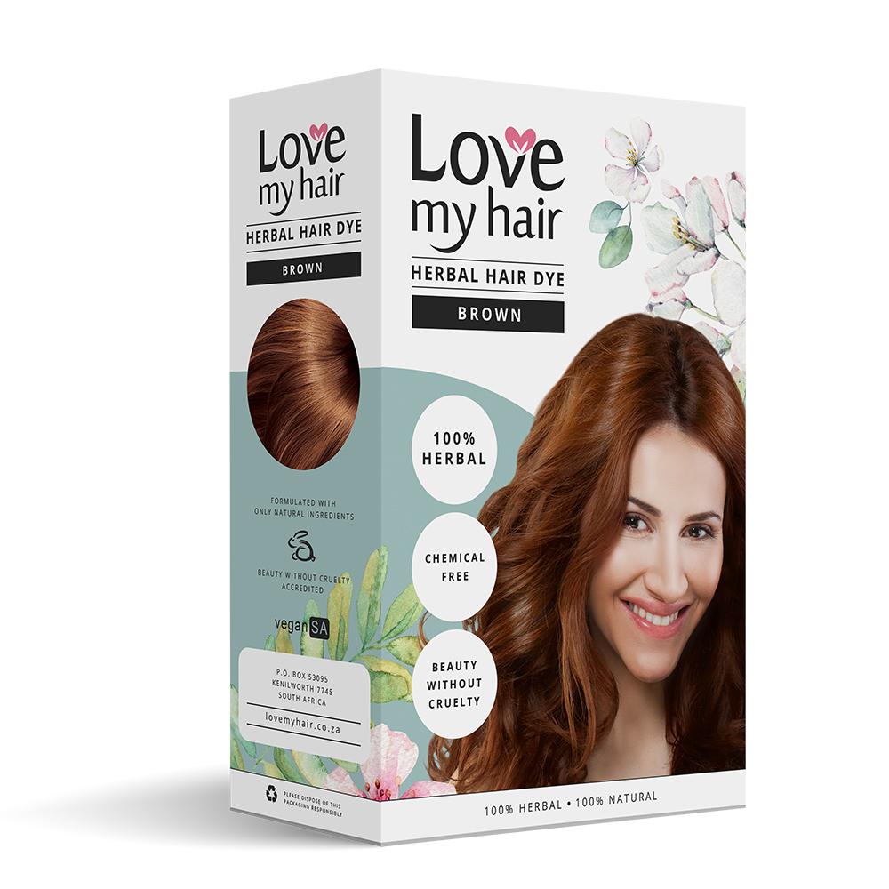 BROWN - 100% Herbal hair dye